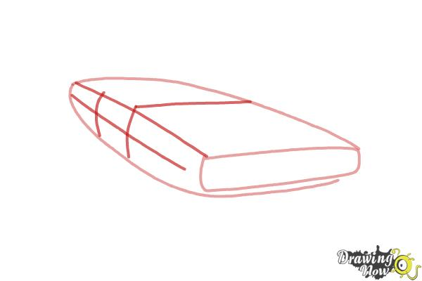 How to draw a 1970 Dodge Charger from The Fast and the Furious - Step 2