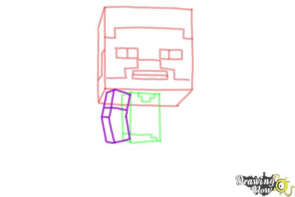 How to Draw a Chibi Steve from Minecraft - Step 5