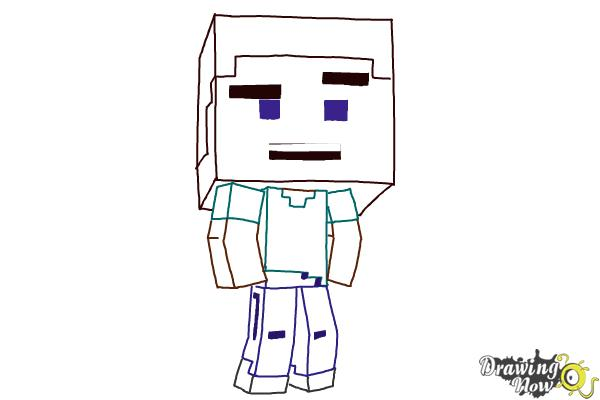How to Draw a Chibi Steve from Minecraft   DrawingNow