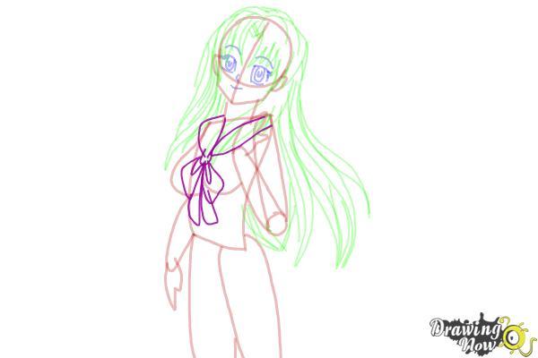 How to Draw Manga Characters - Step 10