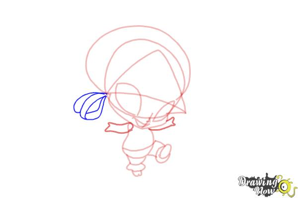 How to Draw Aisha'S Pixie, Piff from Winx - Step 7