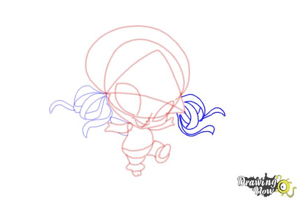 How to Draw Aisha'S Pixie, Piff from Winx - Step 9