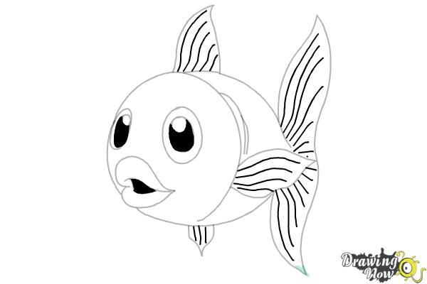 How to Draw a Fish Step by Step - Step 12