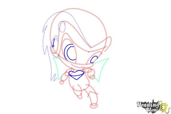 How to Draw Tecna'S Pixie, Digit from Winx - Step 9