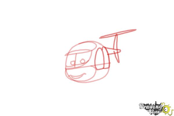 How to Draw Nick Loopin Lopez from Planes: Fire & Rescue - Step 4