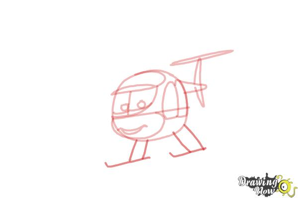 How to Draw Nick Loopin Lopez from Planes: Fire & Rescue - Step 5