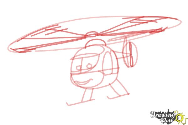 How to Draw Nick Loopin Lopez from Planes: Fire & Rescue - Step 6