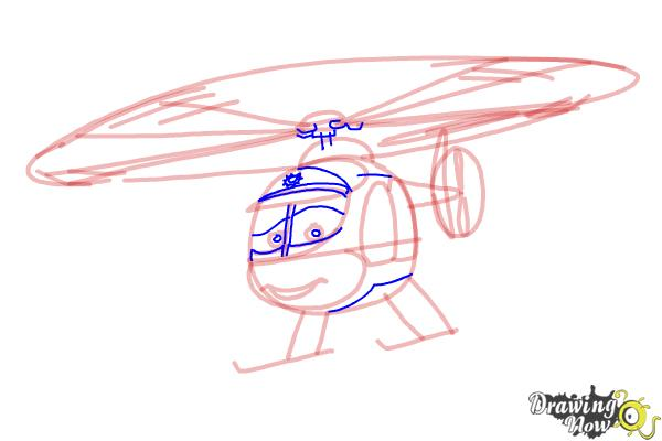 How to Draw Nick Loopin Lopez from Planes: Fire & Rescue - Step 7