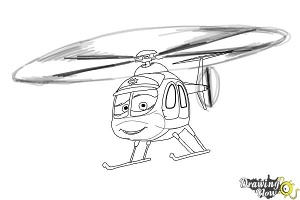 How to Draw Nick Loopin Lopez from Planes: Fire & Rescue - Step 8