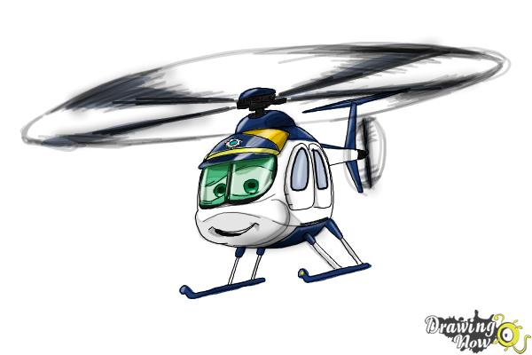 How to Draw Nick Loopin Lopez from Planes: Fire & Rescue - Step 9