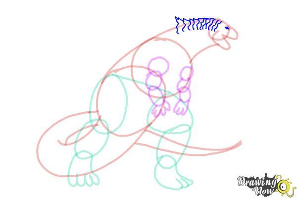 How to Draw Godzilla 2019 - Step 11