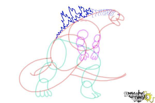 How to Draw Godzilla 2019 - Step 12