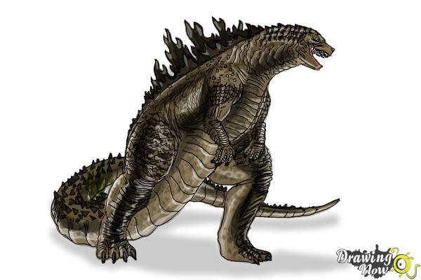 How to Draw Godzilla 2019 - Step 19
