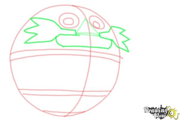 How to Draw Death Egg from Sonic - Step 4