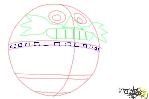 How to Draw Death Egg from Sonic - Step 5