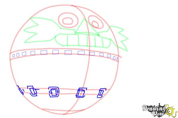 How to Draw Death Egg from Sonic - Step 6