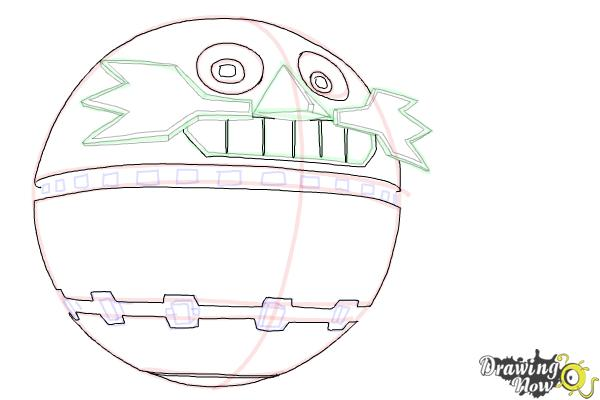 How to Draw Death Egg from Sonic - Step 8