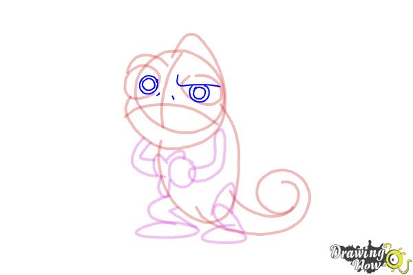 How to Draw Pascal from Tangled - Step 10