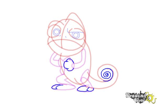 How to Draw Pascal from Tangled - Step 11