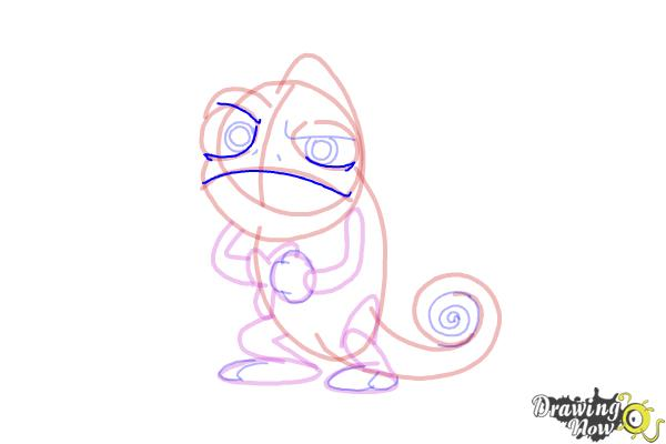 How to Draw Pascal from Tangled - Step 12