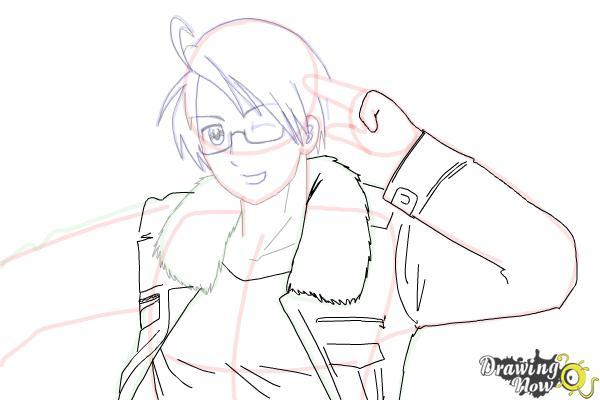 How to Draw America from Hetalia - Step 12
