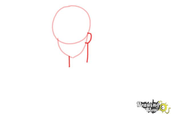 How to Draw America from Hetalia - Step 2