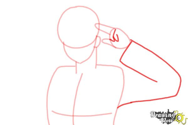 How to Draw America from Hetalia - Step 5