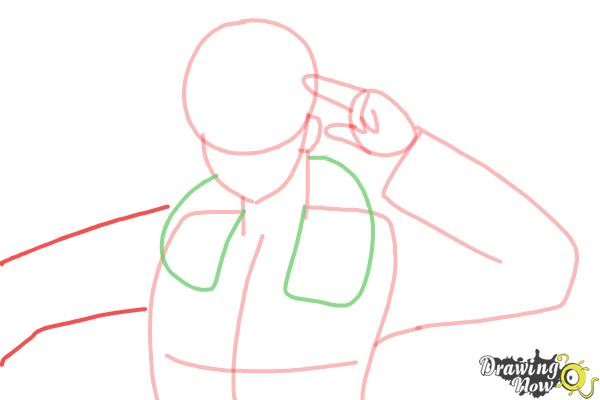 How to Draw America from Hetalia - Step 6