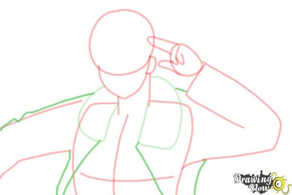 How to Draw America from Hetalia - Step 7