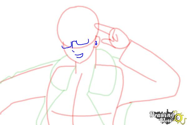 How to Draw America from Hetalia - Step 8