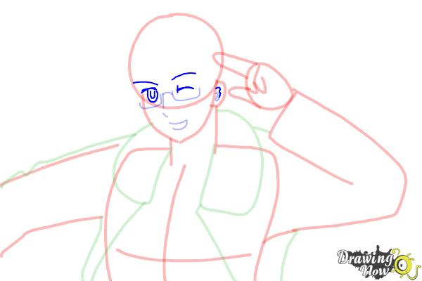 How to Draw America from Hetalia - Step 9