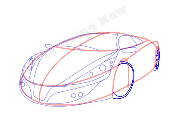 How to Draw a Cool Car - Step 10
