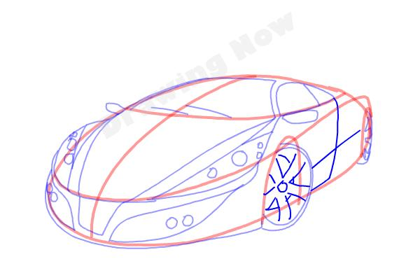 How to Draw a Cool Car - Step 11