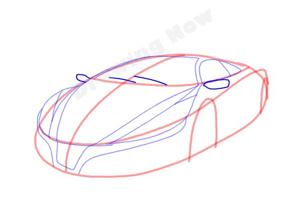 How to Draw a Cool Car - Step 7