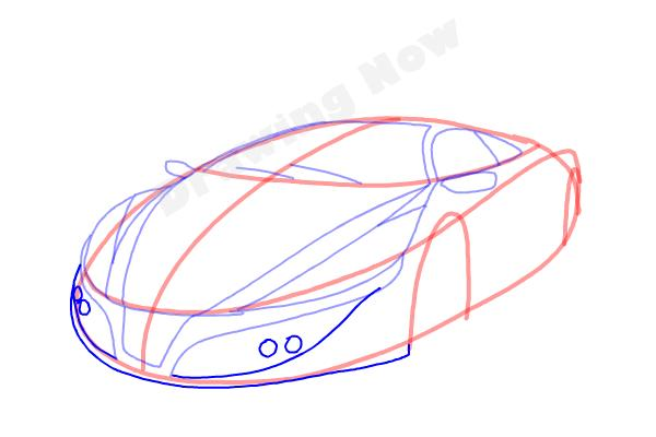 How to Draw a Cool Car - Step 8