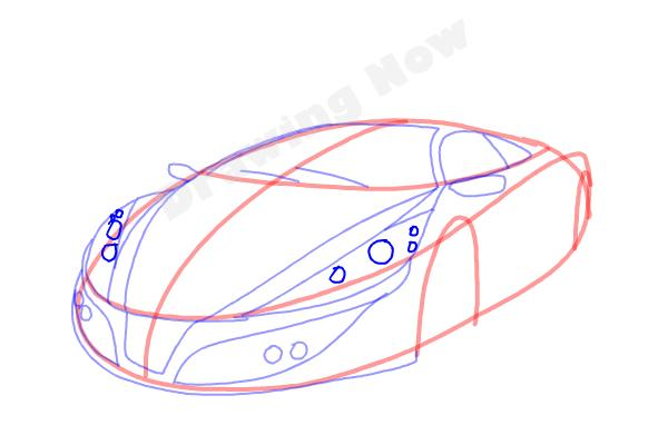 How to Draw a Cool Car - Step 9