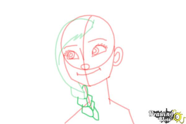 How to Draw Anna Easy - Step 11