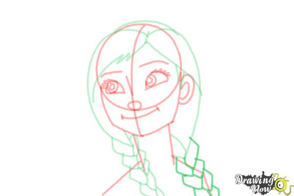 How to Draw Anna Easy - Step 13