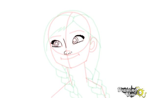 How to Draw Anna Easy - Step 14