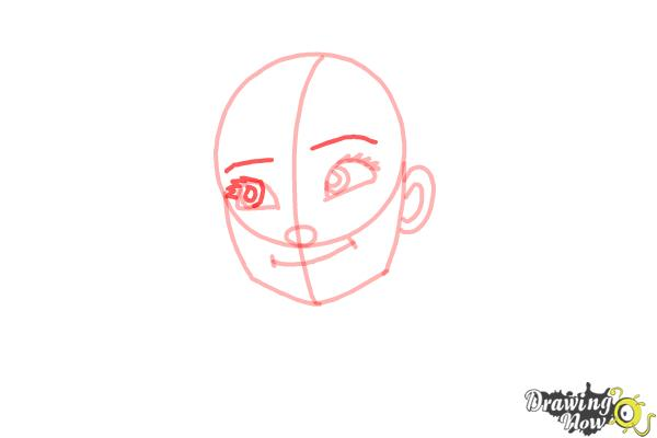 How to Draw Anna Easy - Step 8
