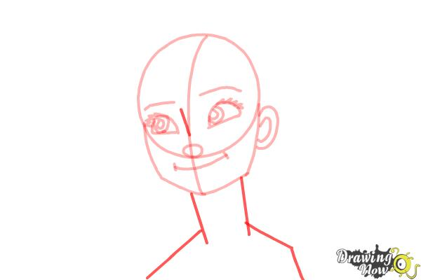 How to Draw Anna Easy - Step 9