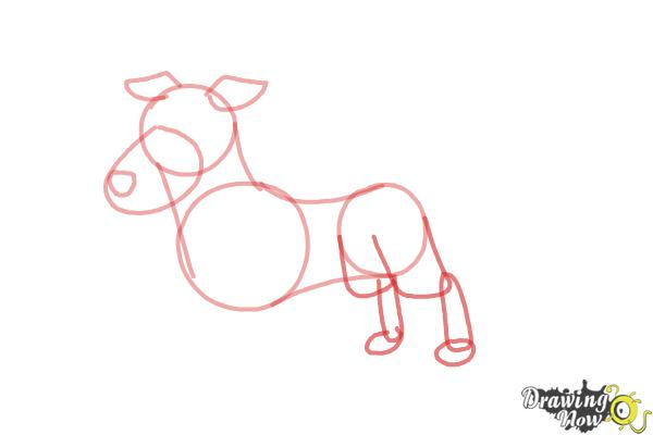 How to Draw a Dog Step by Step - Step 5
