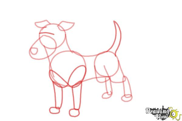 How to Draw a Dog Step by Step - Step 6