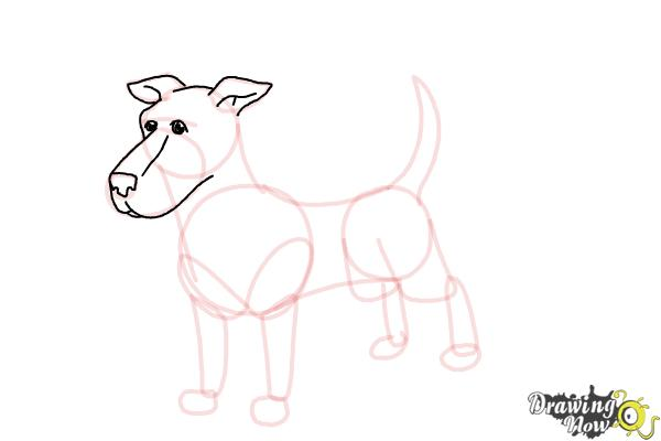 How to Draw a Dog Step by Step - Step 7