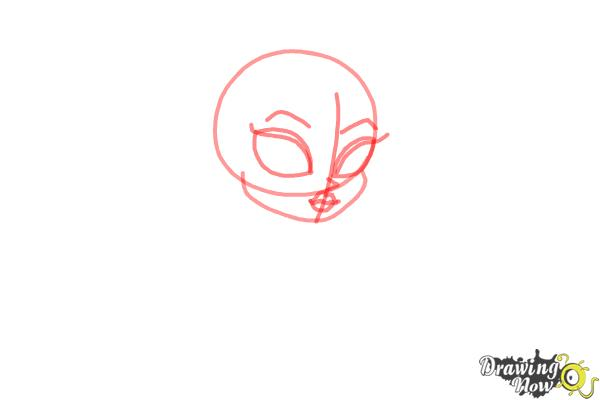 How to Draw Chibi Frankie Stein from Monster High - Step 2