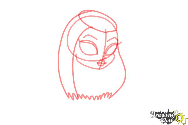 How to Draw Chibi Frankie Stein from Monster High - Step 3