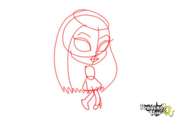How to Draw Chibi Frankie Stein from Monster High - Step 4