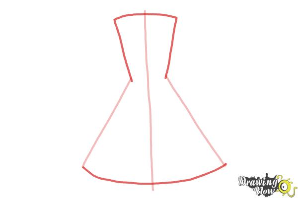 How to Draw a Dress Step by Step - Step 2