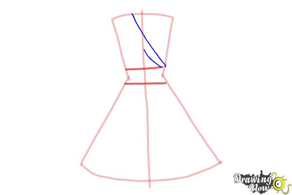 How to Draw a Dress Step by Step - Step 3