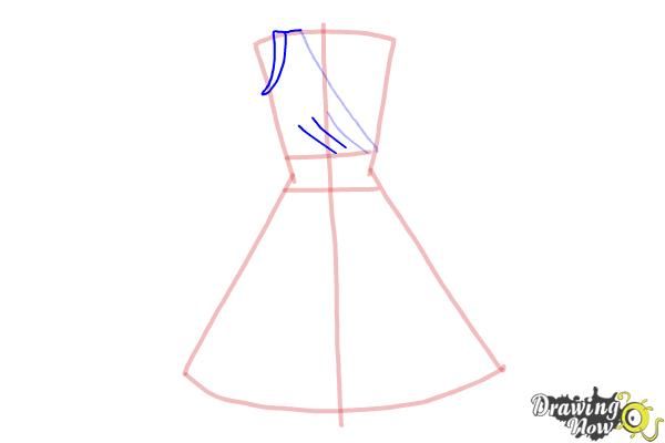 How to Draw a Dress Step by Step - Step 4